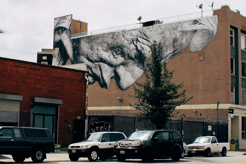 Street ArtistJRin Art District, LA,March 2014