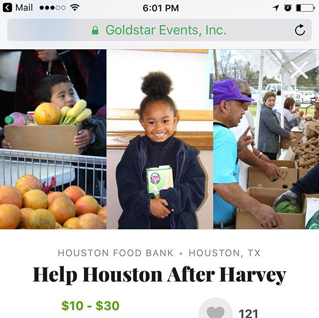 I love the app @goldstarevents_ it's a great way to check out local events near you. I found this one about donating to the people in Texas. It's a great way to support the people after Harvey. Download the app now to see what's around you. #Goldstar #GoOutMore #hbtgoldstar #ShowLove #hbsp