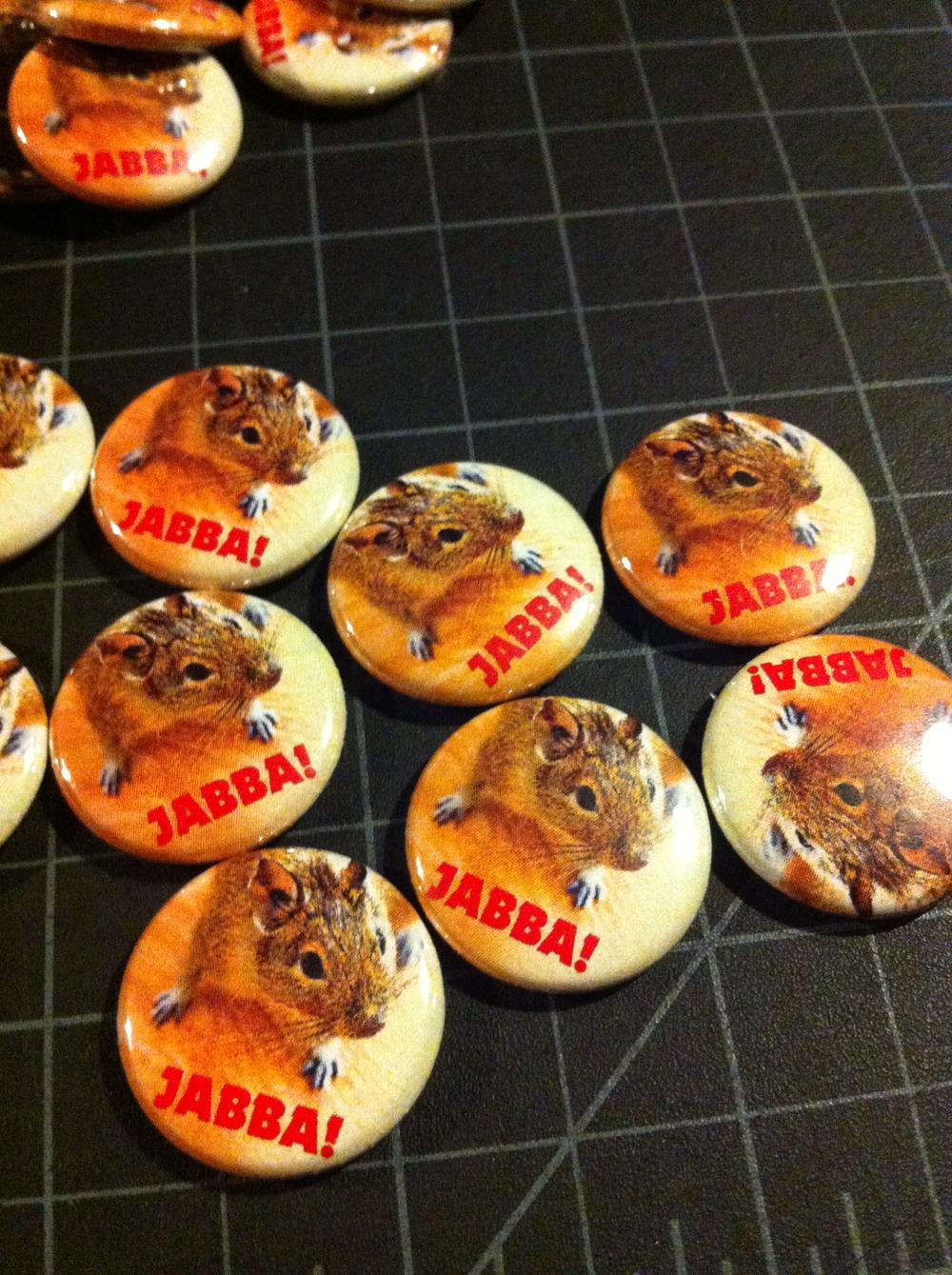 Class pride, class pet buttons!!! Jabba was the class pet  Degu .