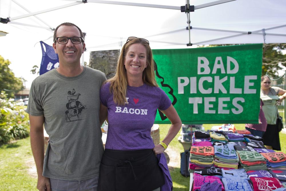 Bad Pickle Tees, one of the many vendors present at the first annual Taste of Paleo