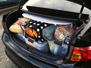 5/23 Seattle: Car packed and ready to go