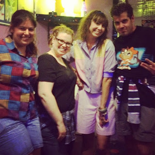 90s themed Wardrobe party at the most AMAZING Alien-themed roller rink