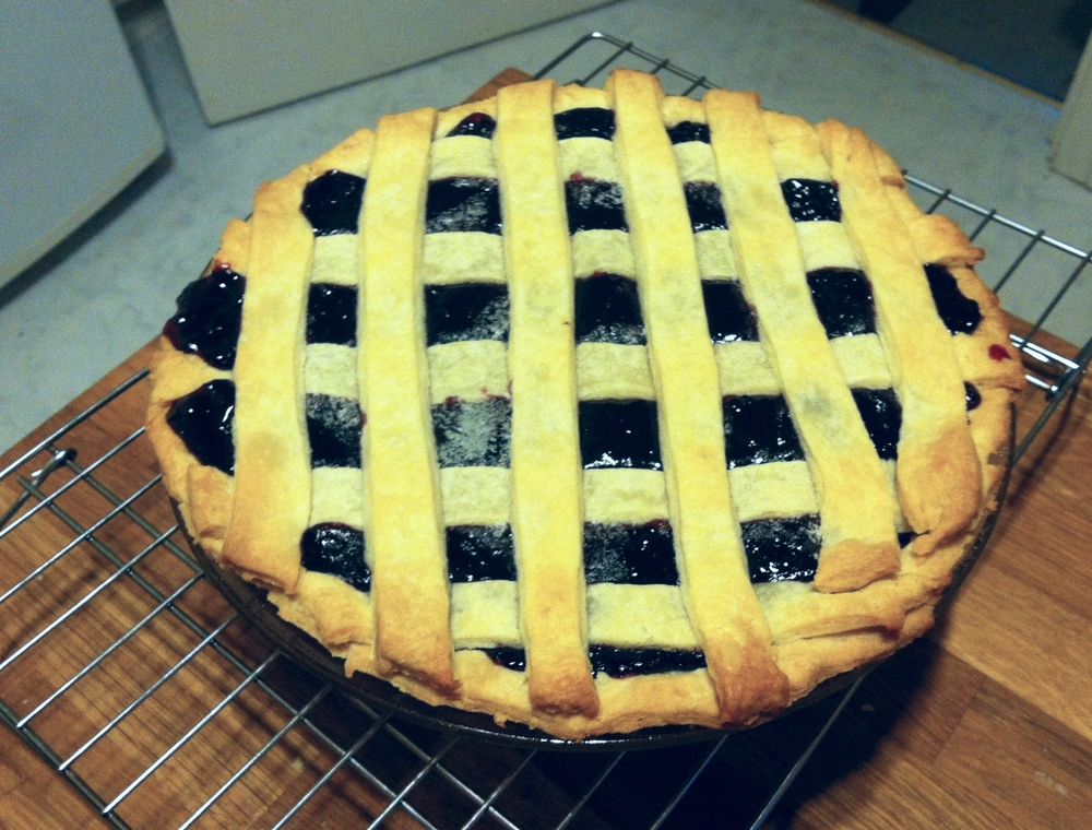 My blackberry pie in all it's glory