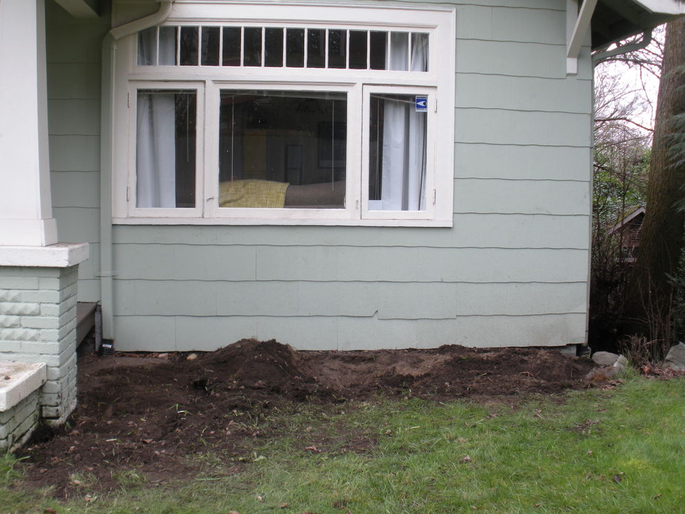 After: front bed