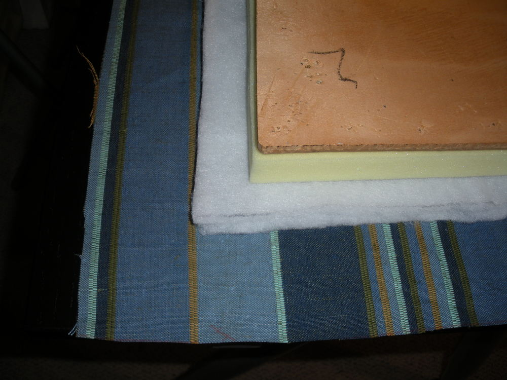 Fabric, batting, foam and seat
