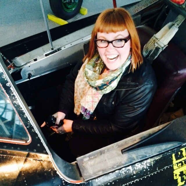 Me at the Museum of Flight in a fighter jet. Why? Because I can.