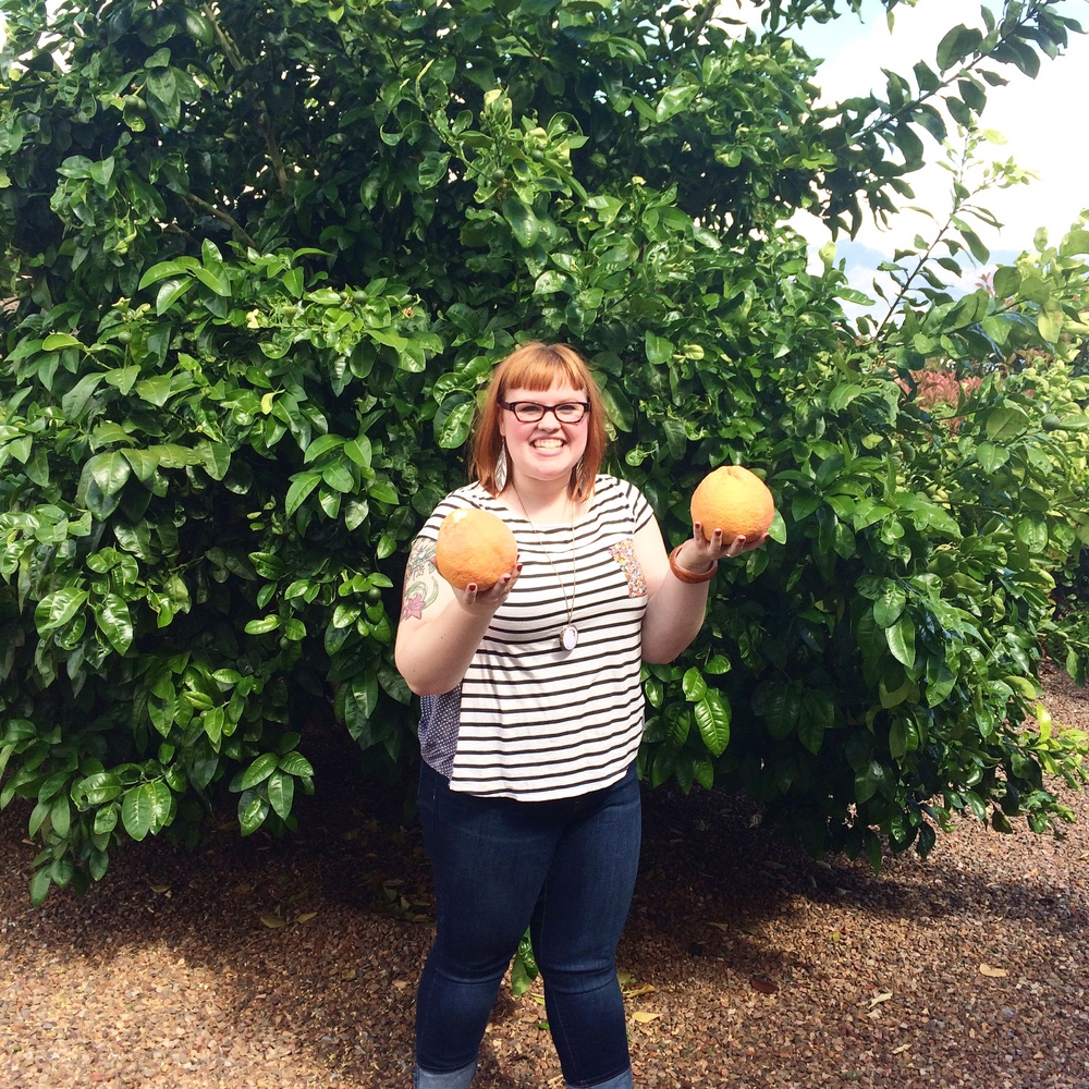 If you follow me on Instagram you probably already saw this one but I have to share it again because LOOK AT HOW BIG THOSE GRAPEFRUIT ARE