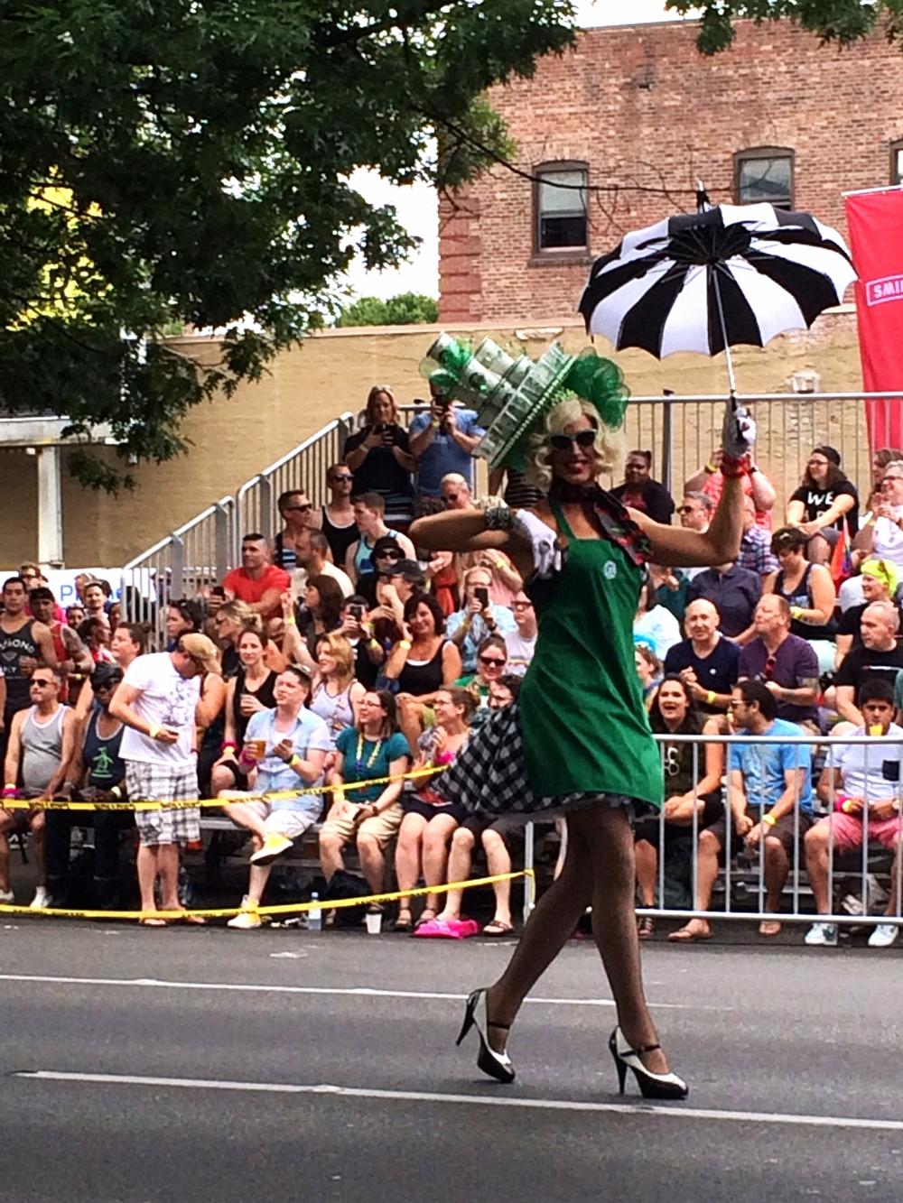 Starbucks drag queen!