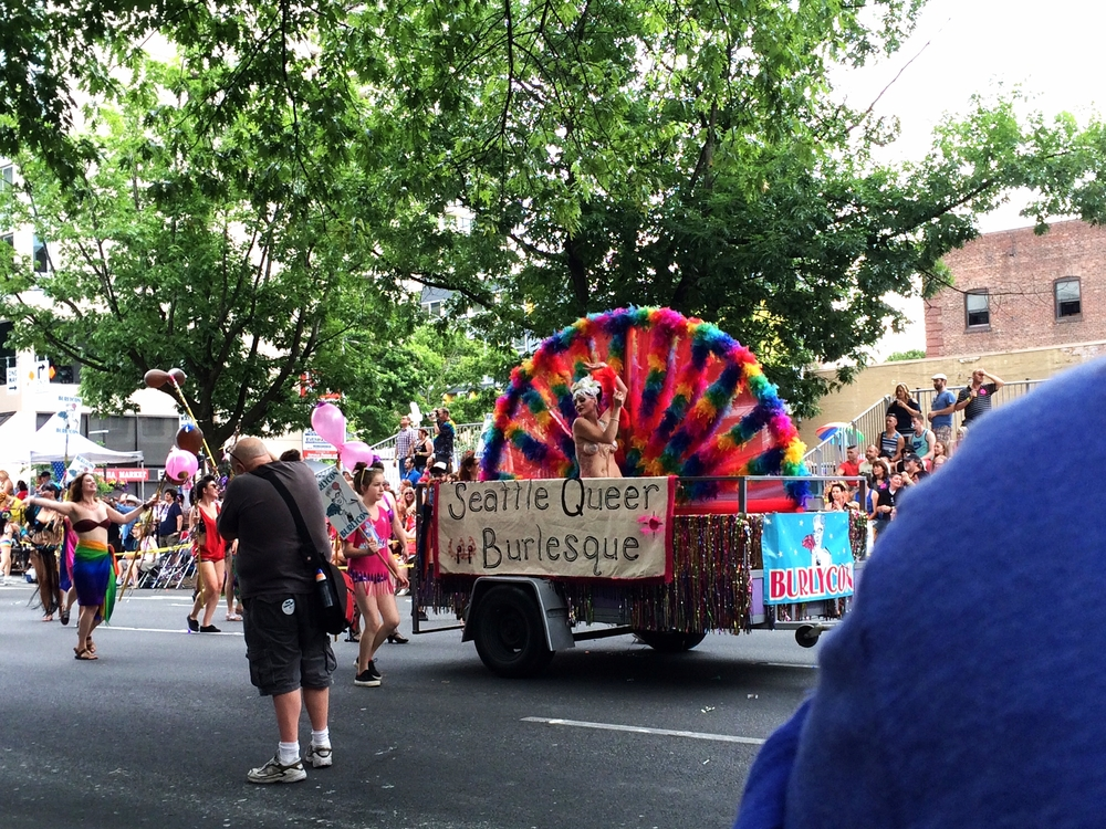 The truck pulling their float had pasties over its headlights