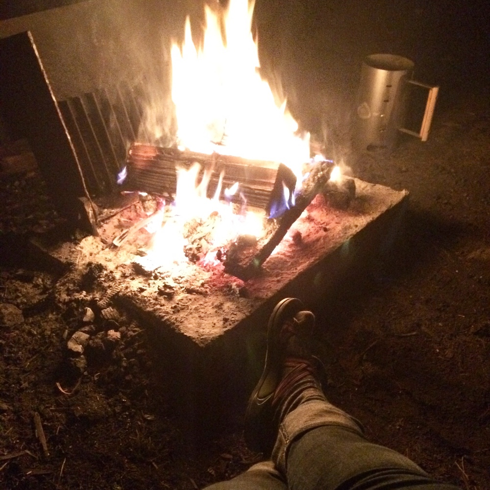 Feet by the fire!