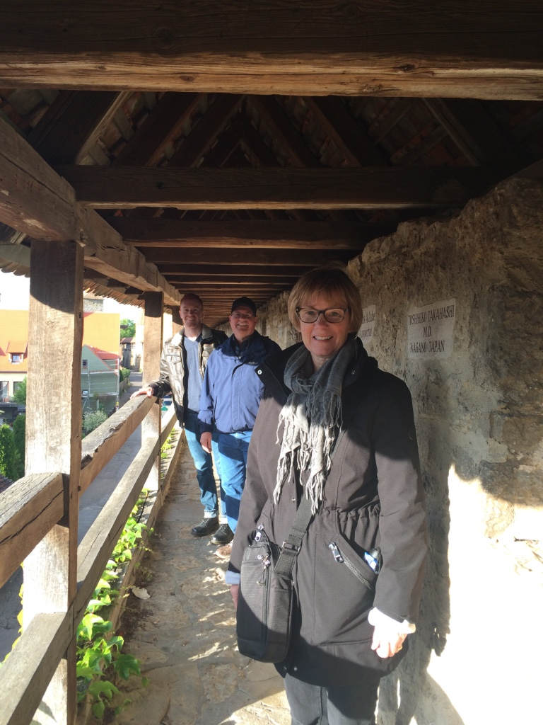 Walking along the still standing sections of the medieval wall that encircled the town