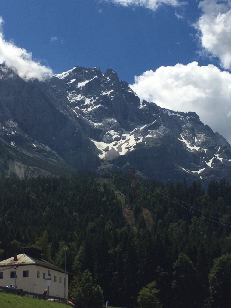 From the base of the Zugspitze cable car, this is the tallest peak in the German Alps