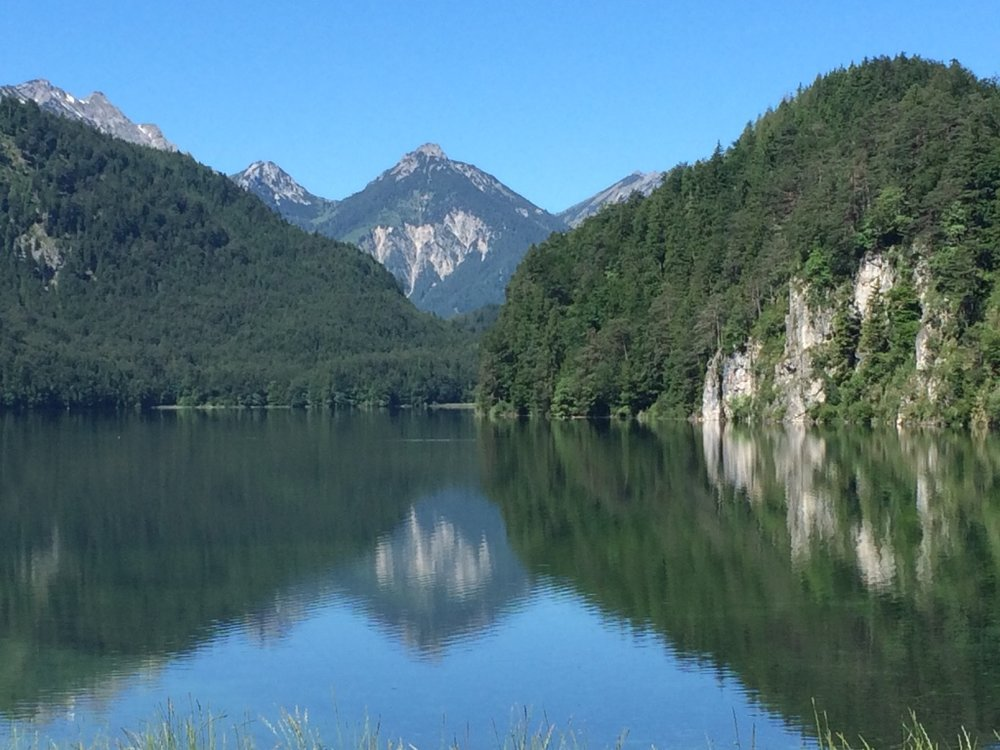 Lake Alpsee, between Hohenschwangau and Neuschwanstein castles