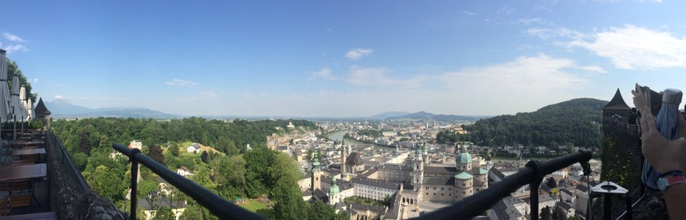 The view of Salzburg from Hohensalzburg fortress