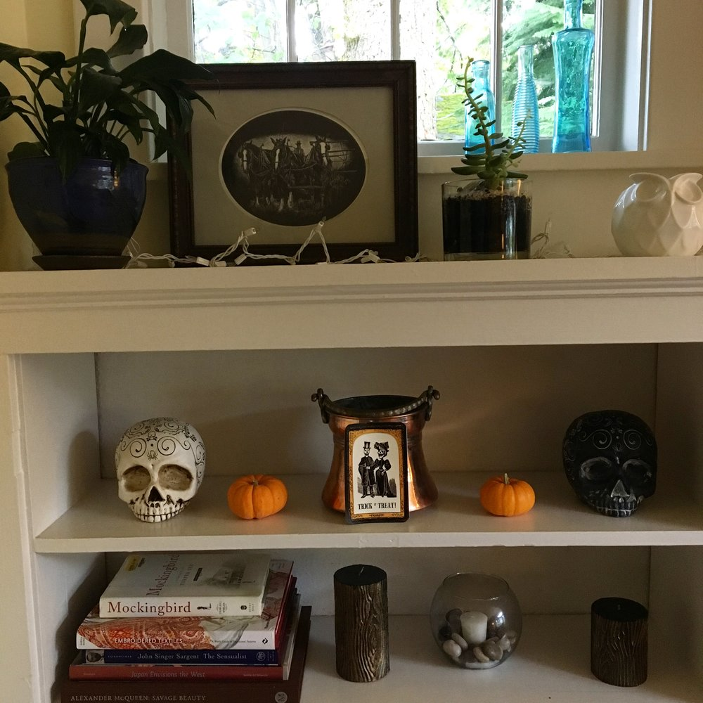 Skulls from Fred Meyer and copper bucket from TJ Maxx
