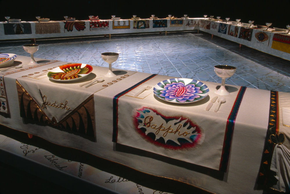 Judy Chicago,  The Dinner Party , via  judychicago.com
