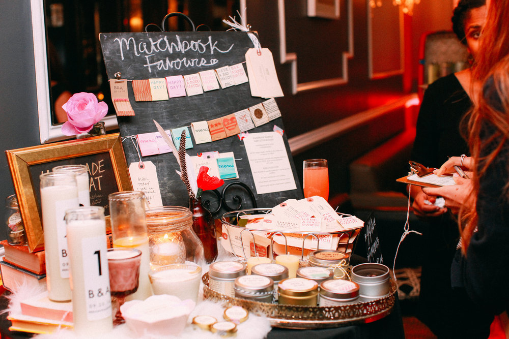 Handmade Habitat was at the Indie Bridal Party showing their amazing favors and gifts. Image courtesy of  Vness Photography