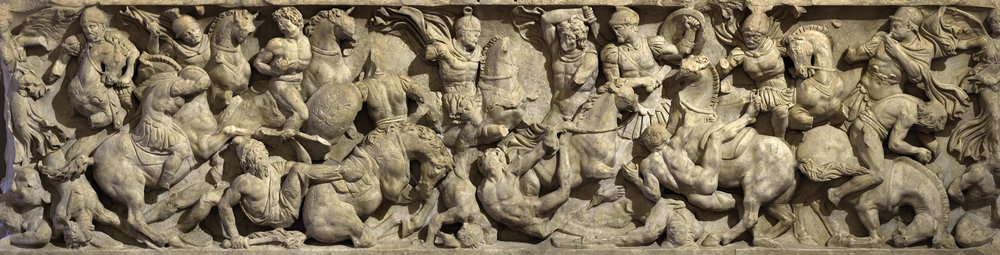 Sarcophagus with battle scene known as the Small Ludovisi.