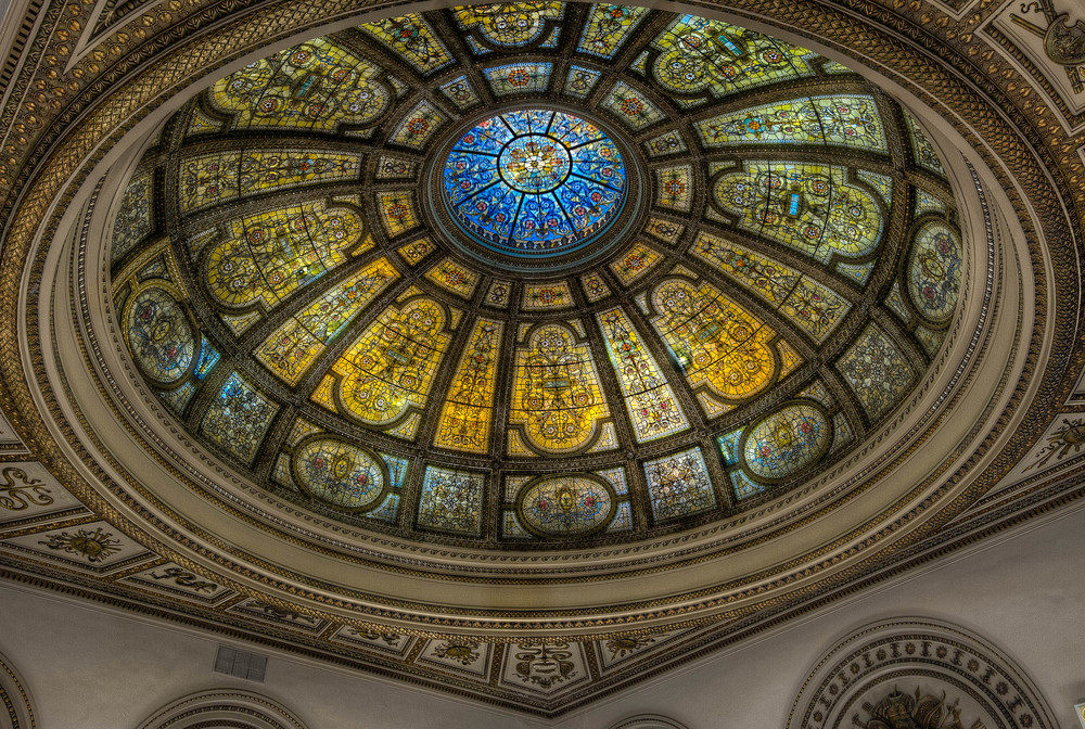 G.A.R Stained Glass Dome