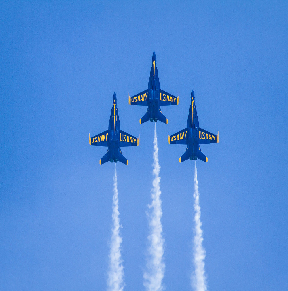 Blue Angels Moving Up