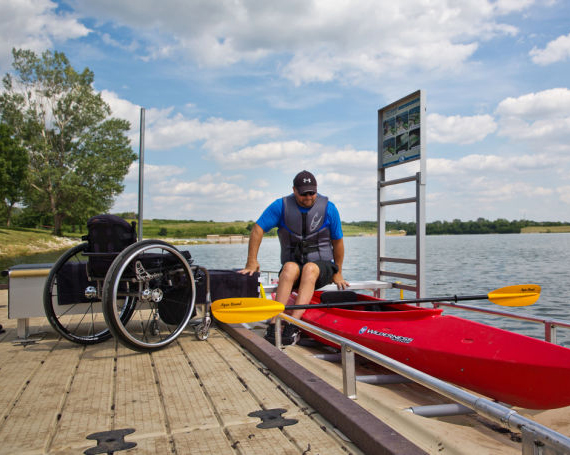 Glenn Cunningham Lake Universal Access