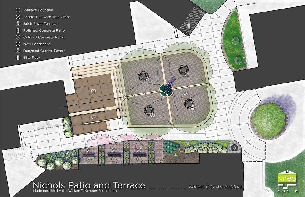 KC Art Institute Courtyard & Terrace