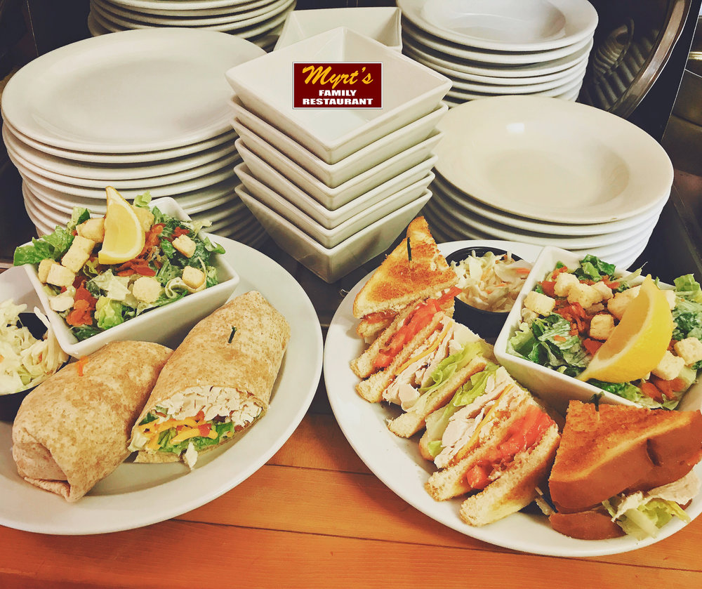 Myrt's Classic Club in a Wrap or Toasted.