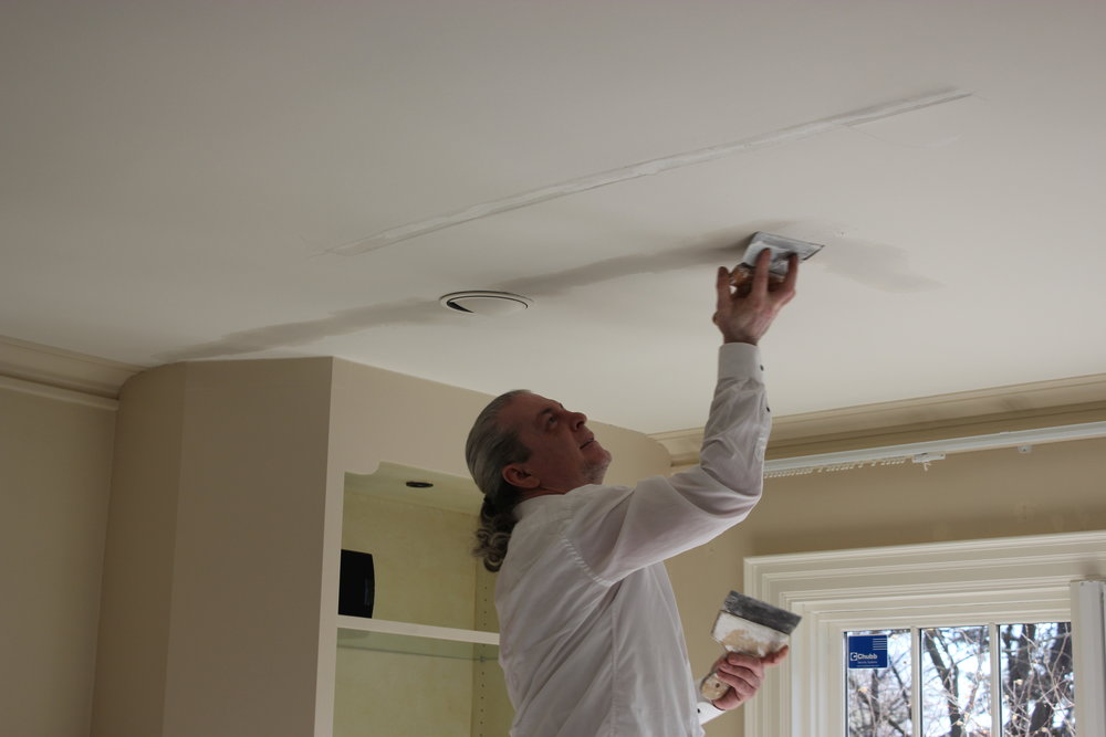 Plaster Repair - We repair cracked or damaged walls, ceilings, and trim. For any patch to fully disappear we have to repaint the entire surface to insure a fully uniform finish.