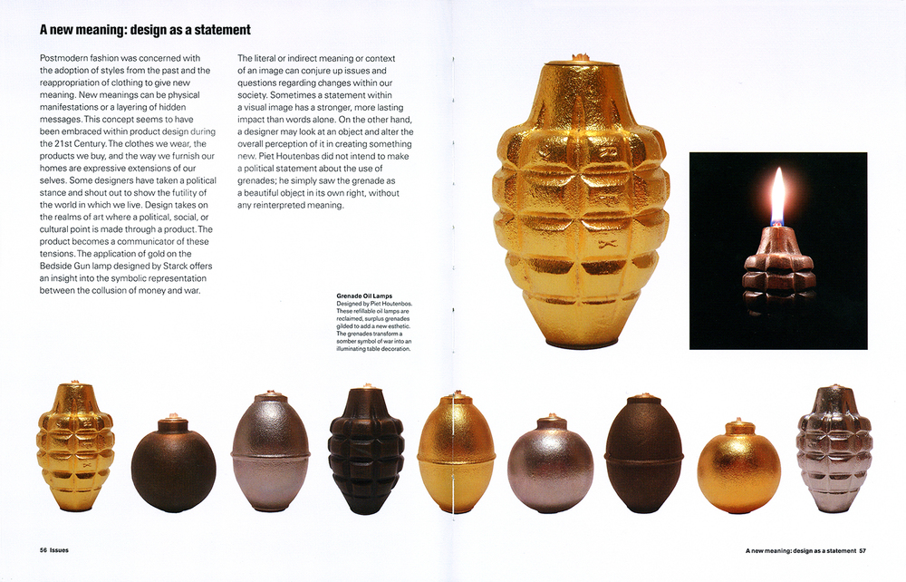 "Grenade Oil Lamps featured in ""What is Product Design"" by Laura Slack"