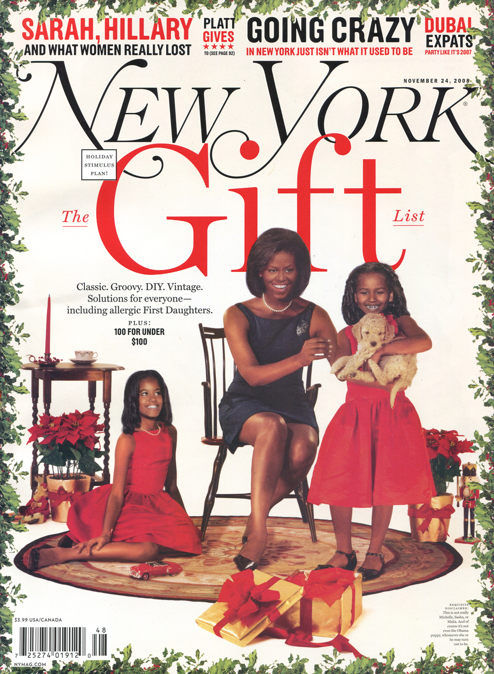 New York Magazine November 24 2008
