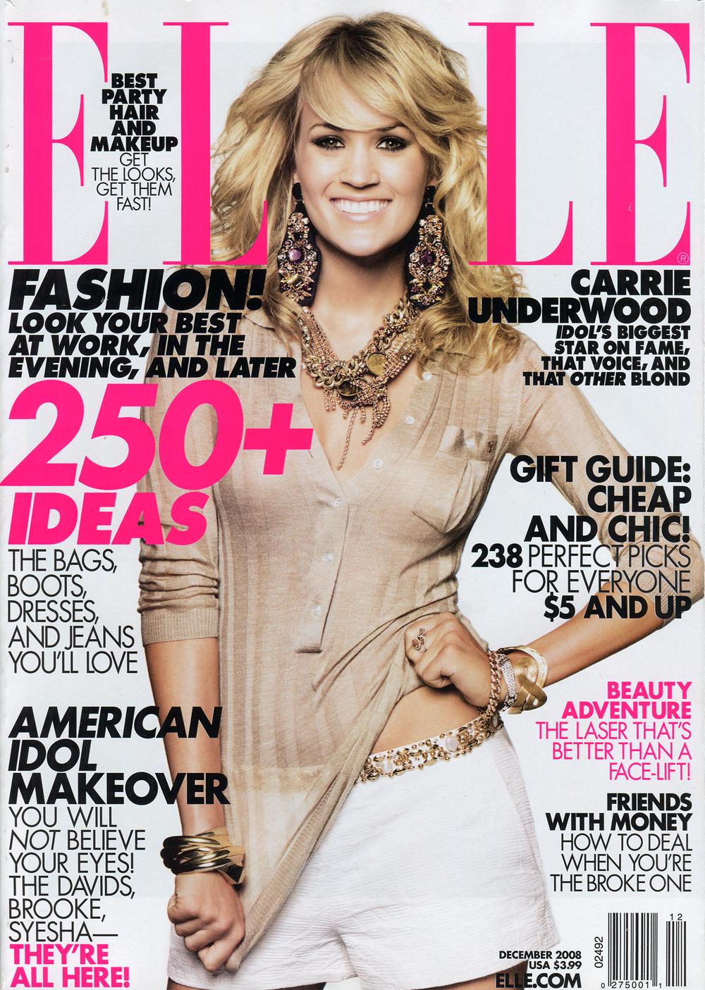 Elle Magazine December 2008