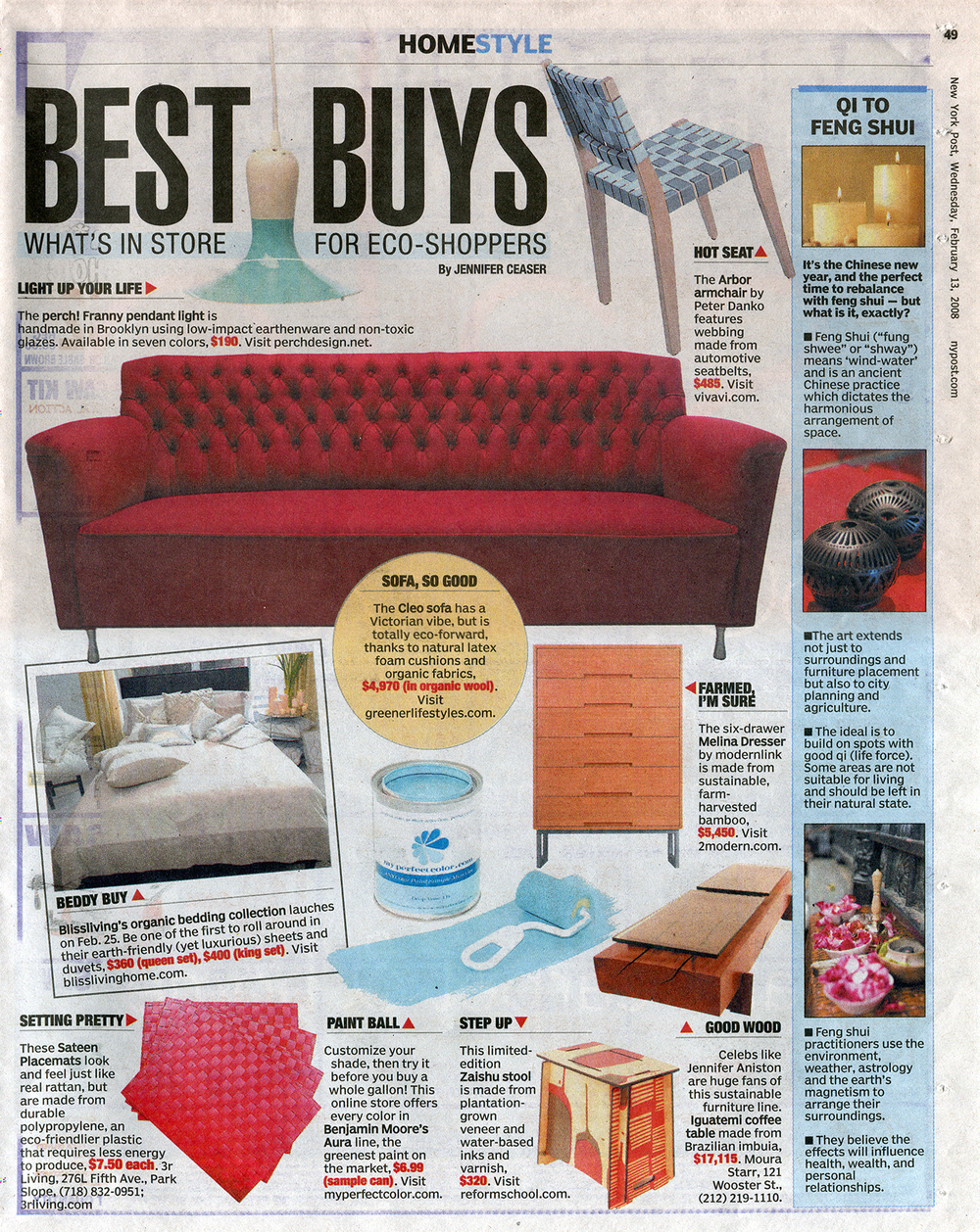 The Melina Tall Dresser, part of the Onelink line of furniture for modernlink designed by Piet Houtenbos featured in the New York Post Home Style Section for Best Buys.
