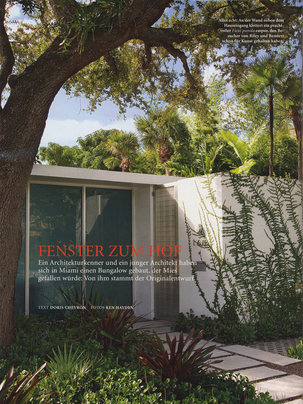 Architectural Digest Germany features a home designed by former Museum of Modern Art Architecture curator Terrence Riley and John Bennett.  Mention of the Jimmy Desk for modernlink's onelink collection designed by Piet Houtenbos appears on page 4.