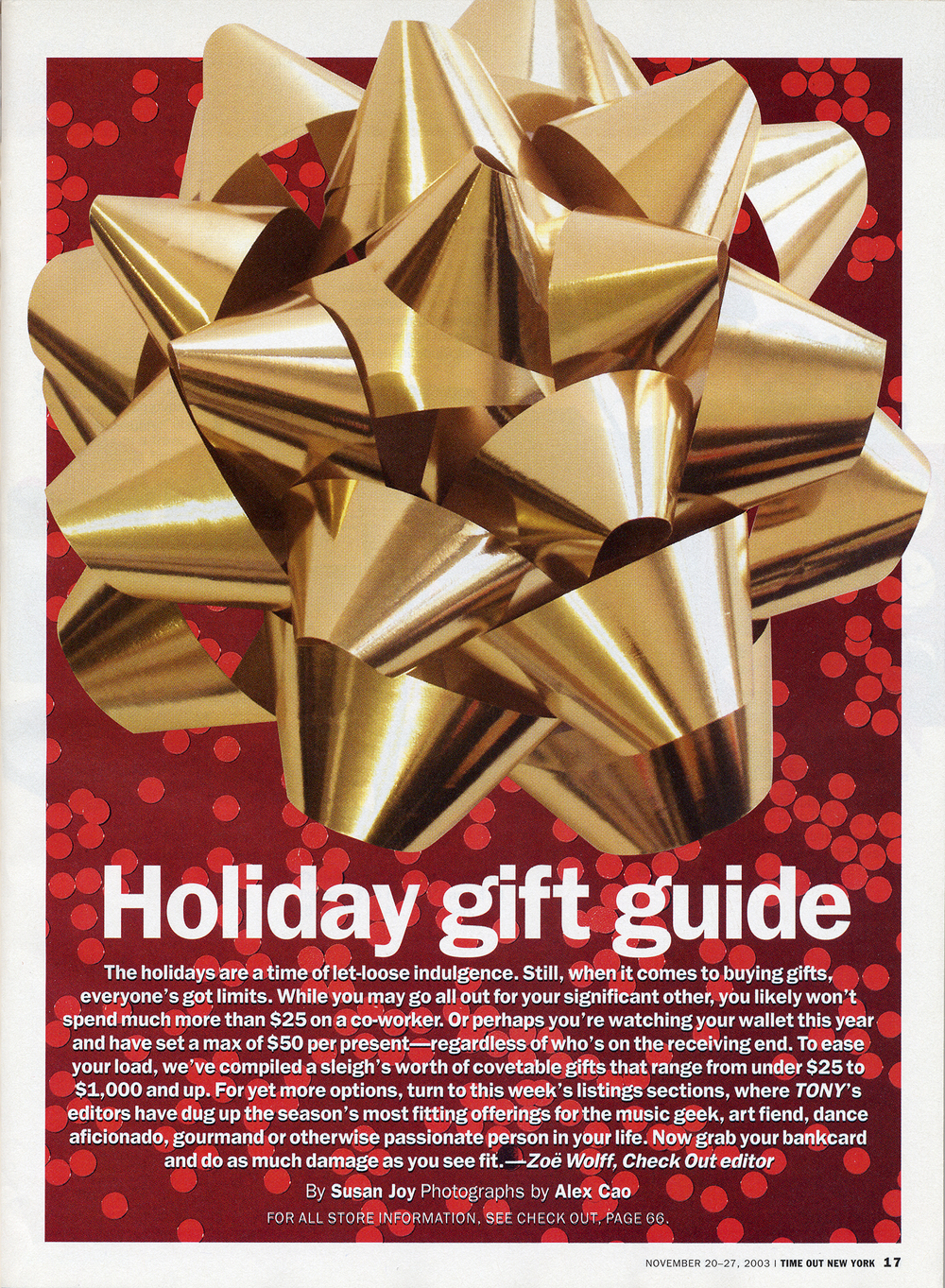 Time Out New York's Holiday Gift Guide featured the Hand Grenade Oil Lamps