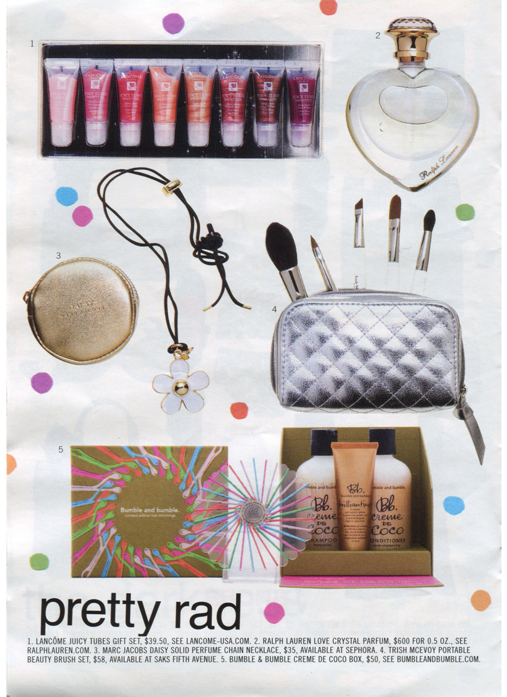 The 'Pinwheel' for Bumble and Bumble's holiday gift box designed by Piet Houtenbos featured in Nylon's holiday gift guide.