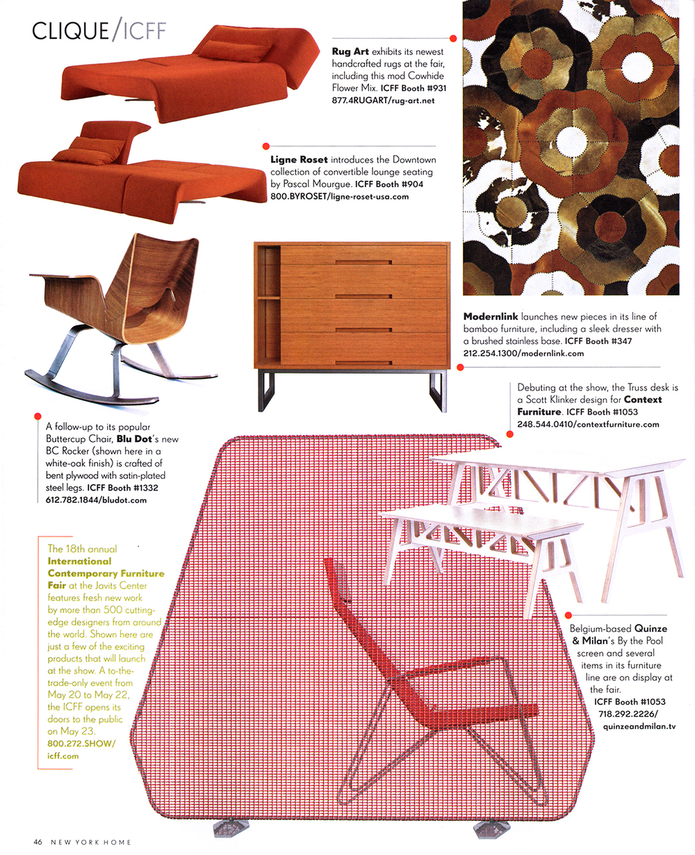 New York Home magazine features modernlinks single 'Melina' dresser.