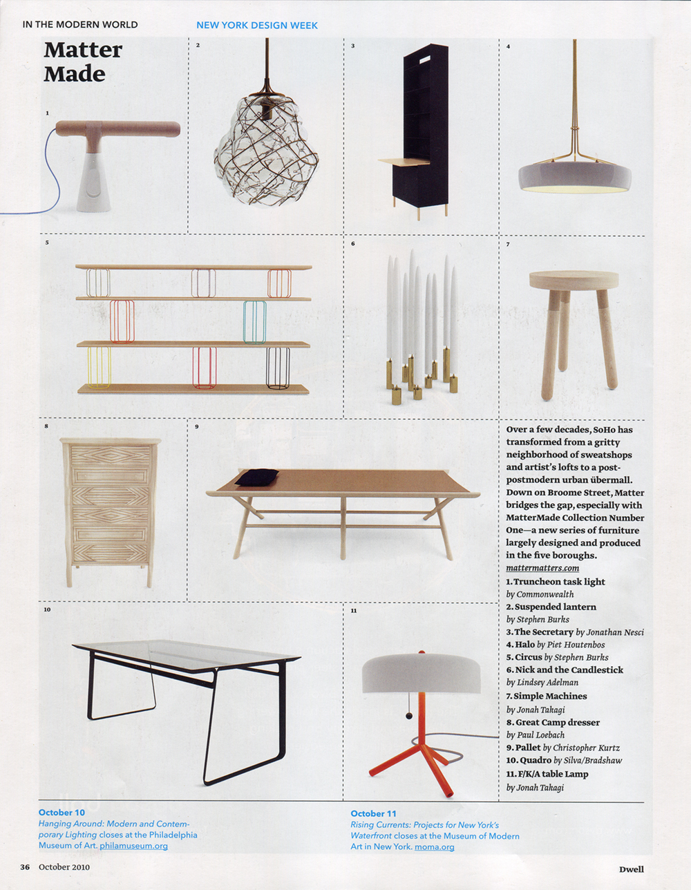 Dwell Magazine features the Halo Chandelier at its launch.