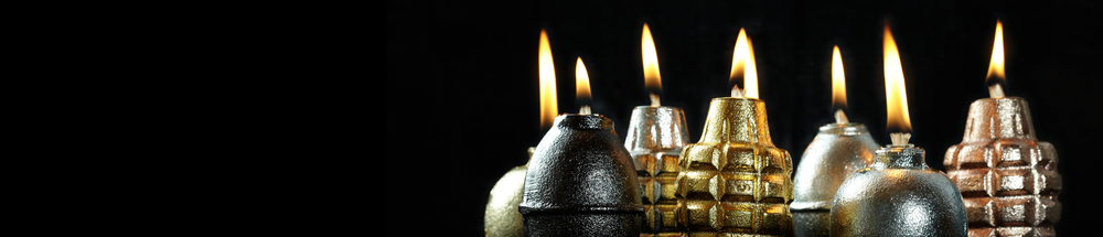 Hand Grenade Oil Lamps