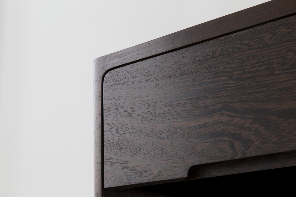 Drawer Detail of Cobb Bookcase in Wenge Designed by Piet Houtenbos