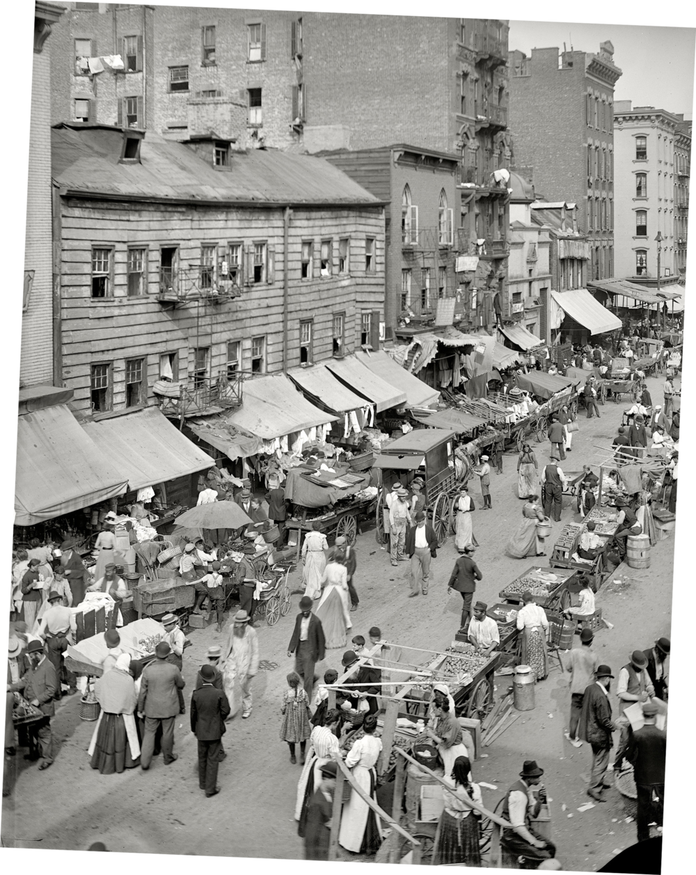 New York City, East Side Market, 1902