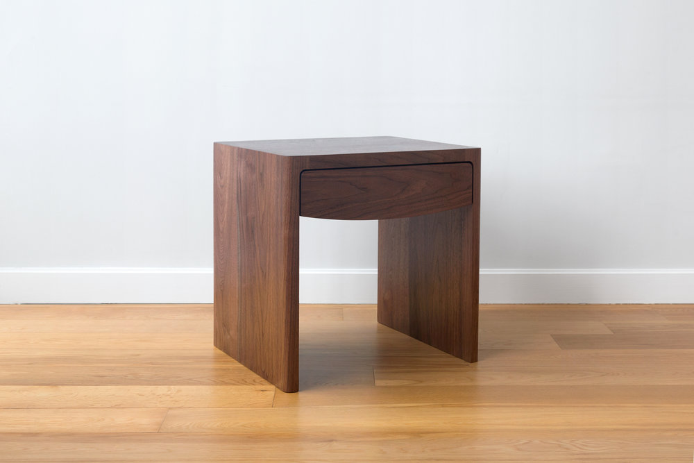 Fina Side Tables in Walnut by Piet Houtenbos