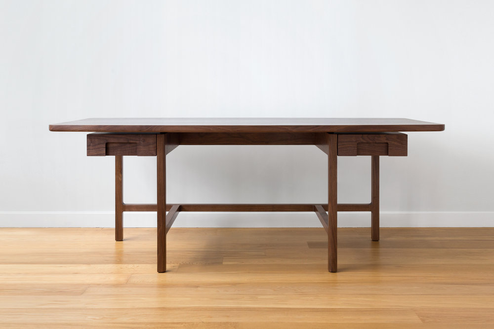 Asa Captains Desk in Walnut by Piet Houtenbos