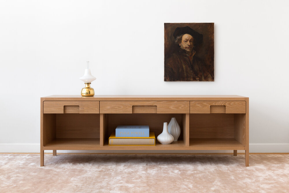 Cobb Console in White Oak