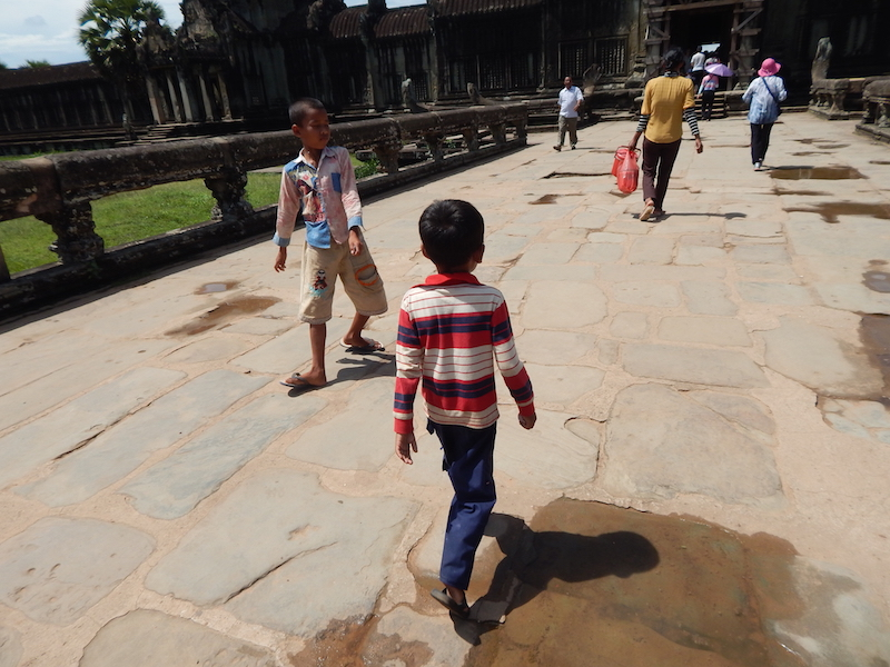 Locals and tourists alike swarm the temples by day. We learned that Americans (North and South together) make up only 9% of the annual tourists to Cambodia.