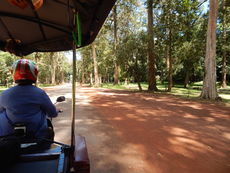 Small but well-paved roads get you from one temple site to the next within the massive Angkor Wat complex. Rides between temples range from 5-45 minutes depending on which one you want to see next.