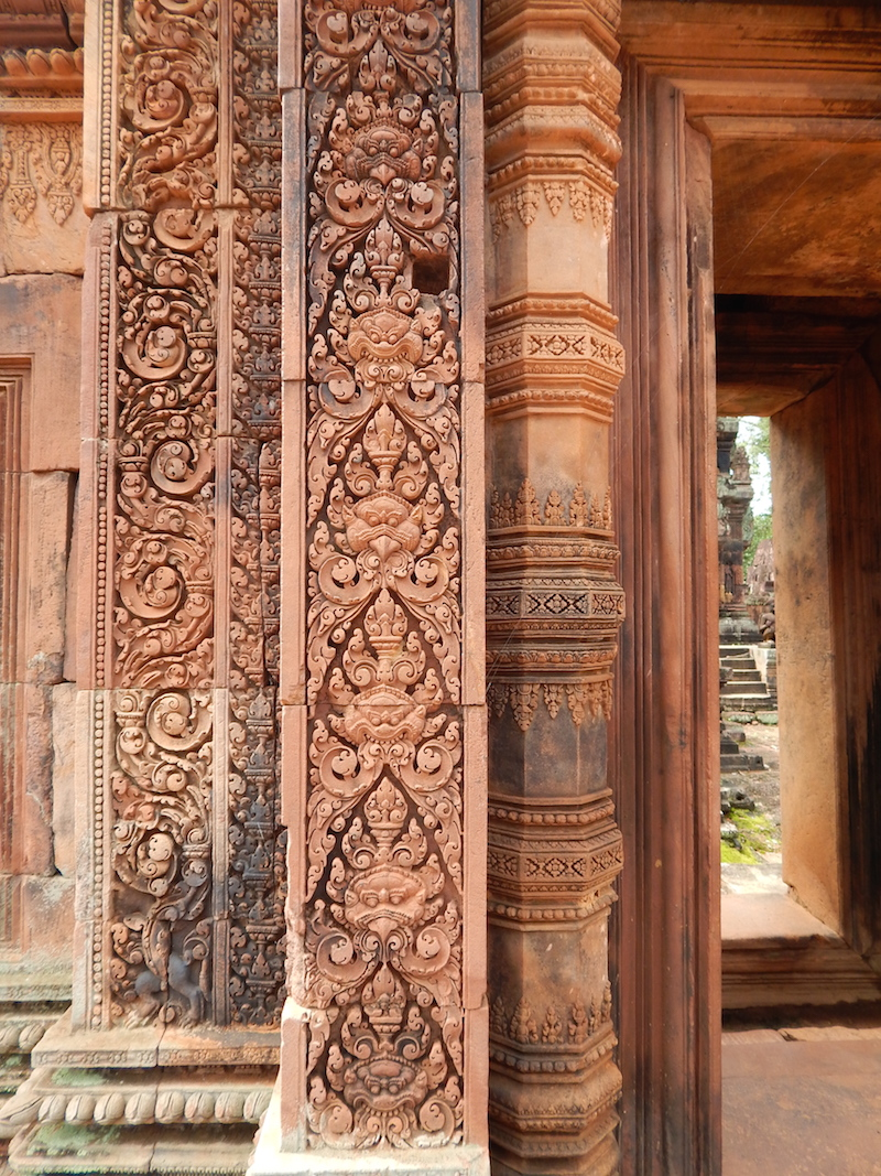 The woman's temple is known for its carvings, which are even more intricate than those found in the other temples