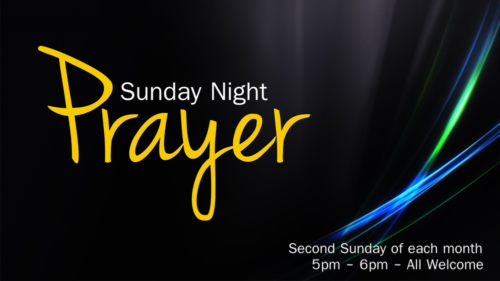 Come along for a great night of prayer and ministry as we seek God together!