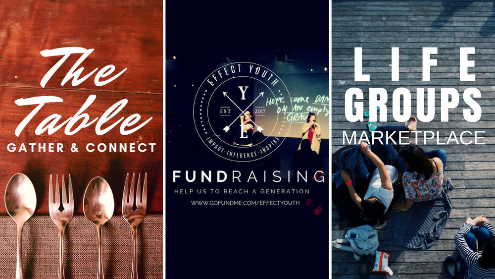 Our next The Table is coming up on the June Long Weekend, soup will be available at the Cafe and all funds will go towards Effect Youth. The Life Group Marketplace will also be on that day so why not check our a life group that suits you and let's not forget the Go Fund Me campaign for also support our Youth!  Check out https://au.gofundme.com/effectyouth