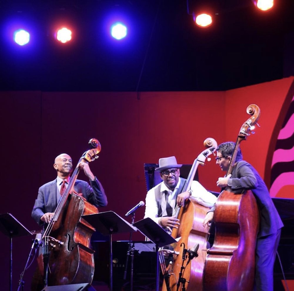 John Clayton, Christian McBride, and John Patitucci from this year's MJF (photo: @montereyjazzfestival)