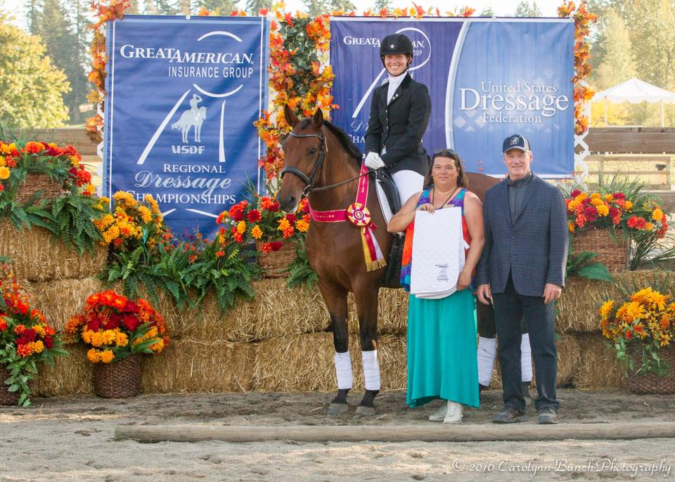 USDF Region 6 Reserve Champions, Fourth Level Open, Auburn, WA   Photo: Carolynn Bunch